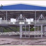 Light steel construction poultry farm shed with equipment/carport/car garage /steel structure building project