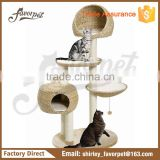 high quality best sellling natural handmade banana leaf big indoor cat tree