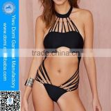 Attractive multi-rope sexy one piece thong buckles girls for swimwear