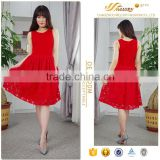 2016 Hot sweetheart loving beaded bright red fashion clasic knee length cocktail lace dress