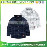 Wholesale new design plaid boy shirt long sleeves children casual shirt kids check shirt