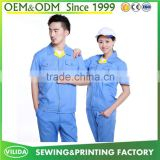 High Quality Short Sleevec Worker Uniform Factory Workerwear From Guangzhou factory