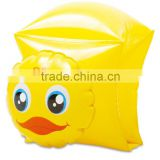 promotional duck inflatable baby swimming ring armband, inflatable animal float arm ring