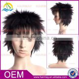 No-Remy hair synthetic short blonde yellow black lace wig malaysian remy hair full lace wig wholesale hair