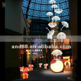 Christmas holiday name decoration light/shopping mall motif light/attractive umbrella motif light
