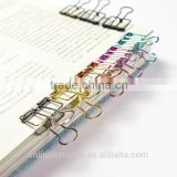 Simple metal hollow Nagao PDA cute creative stationery clips color office paper clip container Paper clipS 50MM 41MM 25MM 9MM