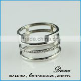 HOT New arrival !!!brass Sterling Gold Plated zircon Jewelry Ring Factory Direct Wholesale