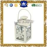 Small Mini white tealight Metal candle Lantern for Christmas Holiday and Wedding Decoration