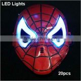 Wholesale LED Flashlights Flashing Light Spider Man SpiderMan Mask Halloween Christmas Gift for Children