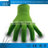 Qianglun ODM Nitrile Coating Bamboo Garden Gloves For Plant