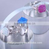 Latest opal ring designs alibaba express turkey blue fire