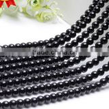 DIY Jewelry accessories necklace bracelet beads 4mm 6mm 8mm 10mm 12mm 14mm 16mm wholesale cheap black natural agate bead