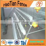 High Quality 4 Tires Layer galvanized chicken egg laying cage for farm poultry farm cage