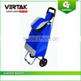 Oxford Rolling Push Trolley, Wheeled Shopping Trolley Push Cart Bag,Folding Shopping Grocery Laundry Utility Cart