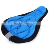 Bike Seat Cover 3D Memory Sponge Saddle Anti-slip Air-permeable Pad Cycling Cushion with Reflective Stripe bicycle accessories
