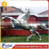 Jumping life size stainless steel horse sculpture for sale NTS-028LI