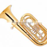 370 mm bell gold lacquer 3-key tuba