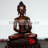 Meditating antique bronze buddha statue for sale