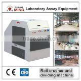 Laboratory roller crusher with automaitic cutter-chute division system, double roller crusher