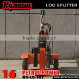 Honda GX200 engine China horizontal and vertical hydraulic used 16T gas power wood splitter