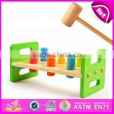 2016 new design baby wooden toy hammer W11G021