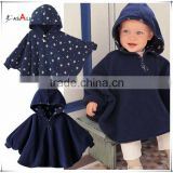 Baby Two-Side Wear Reversible Children's Cape Outerwear Jacket Clothing Coat Velvet Cloak Hoodie Romper
