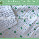 Hot sales printed 100% cotton muslin swaddle blanket for baby