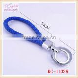 Hot sale braided leather key chain,delicate genuine leather key chain