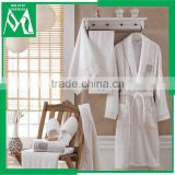 Towel slippers and adult bathrobe 100% cotton set for hotel