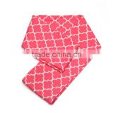 Cute High Quality Knitted Cotton Unisex Baby Hot Pink Kids Children Girls Quatrefoil Infinity Scarf