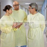 Good quality health care supplies steril disposable surgical gown, reinforces SMS isolation gown