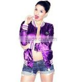 letterman satin varsity jacket for women