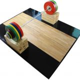 fitness equipment gym use Rubber and Wooden Weightlifting Platform
