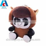 wholesale custom plush stuffed toy panda dressed in chinese zodiac animals clothes
