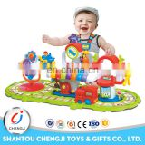Funny battery operated educational slot toys plastic for baby