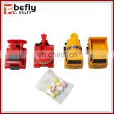 Mini construction truck set pull back capsule toy with candy