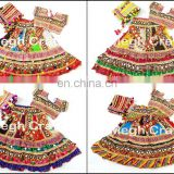 Indian embroidered Cotton Lehenga Choli- Ethnic rabari Work Chaniya Choli- Gypsy kutch embroidery Lehenga-Dandiaya Chaniya Choli