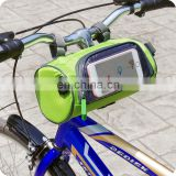 green waterproof handlebar frame bike bag for phone