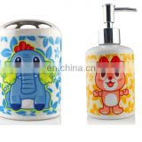 2016 new products sublimation ceramic bath set wholesale