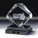 High clear luxury blank glass crystal awards plaque