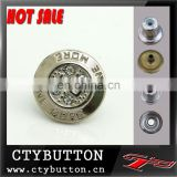 CTY-DP(135) hot sale metal badge buttons for clothing