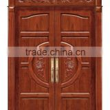 Double Swing Entry Interior Wood Door Solid Wooden Door