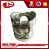 Diesel engine parts 6D105 piston, excavator spare part for 6D105 engine