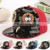 Men Women Black Hedgehog Spike Acrylic Owl Baseball Cap