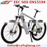 hot sale 250W 500W electric bicycle e-bike lithium battery with rear suspension CE SGS EN15194(FJ-TDE08)
