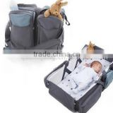 600D waterproof oxford baby travel cot bag