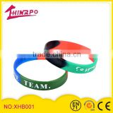 2014 light sensing color changing silicone rubber bracelet promotion