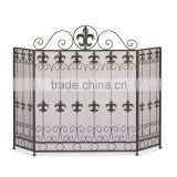 Metal Black Mesh Fireplace Screen