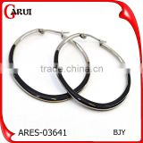 sexy ladies earring designs pictures silver black colored hoop earrings