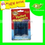 50G 4Pack High Quality Blue Bubble Solid Toilet Cleaner Block/Deodorant                                                                         Quality Choice